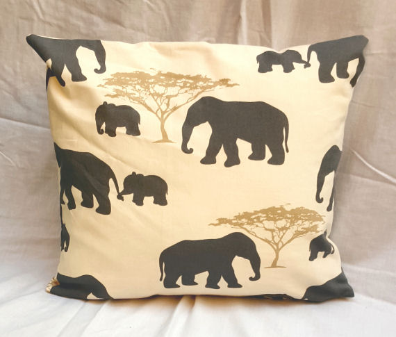 Elephant design Cushion with Zip