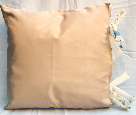 Gold & Purple Design Cushion with Matching Bows